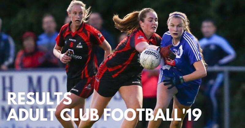 Wednesday Night's Dublin LGFA Adult Club Cup And League Results