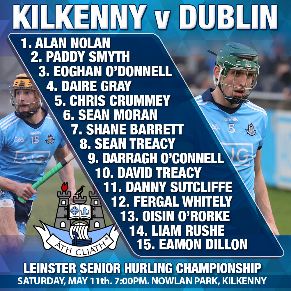 Mattie Kenny - Dublin Starting 15 Leinster Championship